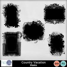Clip Art Country Vacation Masks Pattyb Everyday