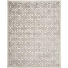 safavieh amherst moroccan gray ivory indoor outdoor moroccan area rug common 8