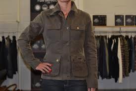 rokker wax cotton jacket lady green