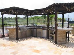 Granite For Outdoor Kitchen Custom Outdoor Kitchen Design In A Outdoor Room With Cover Gas