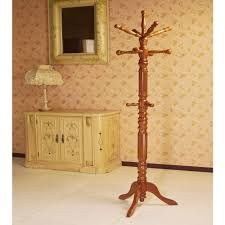 Coat Rack Furniture Frenchi Home Furnishing Oak 100Hook Coat RackJW100O The Home Depot 18