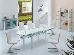 modern glass dining room tables. Innovative Modern Glass Dining Room Tables Elite Furniture Table