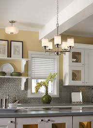 Yellow Wall Kitchen Chandelier Also Pendant Lamp In White Ceiling Also Yellow Wall