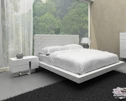 details about white leather pattern headboard king size bedroom set 3pcs vig modrest voco