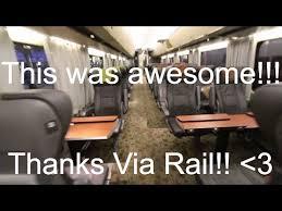 Via Rail 150 Business Class Montreal To Toronto Youtube