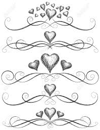 Scroll Heart Heart Scroll Work Sketchy Hearts With Page Rules
