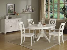 creative design white round kitchen table and chairs