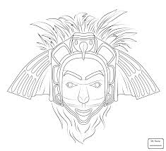 Small Picture coloring pages arts culture Aztec Mask masks colorpages7com