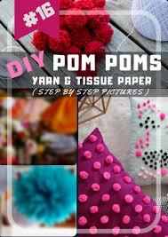 16 diy pom pom crafts yarn and tissue paper pom poms