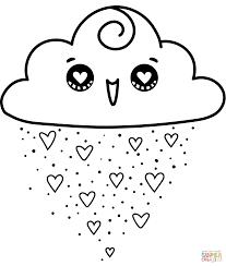 Disegno Di Nuvola Kawaii Da Colorare Disegni Da Colorare E