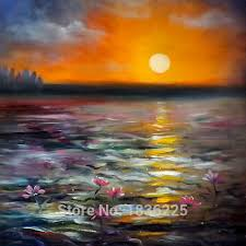 abstract wall art seascapes abstract modern flower oil paintings seascapes painting sunset oil painting on canvas