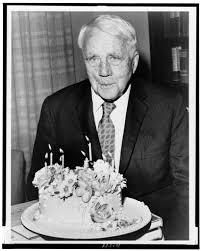 robert frost poet poses his birthday cake on his th robert frost poet poses his birthday cake on his 85th birthday world telegram photo by walter albertin library of congress