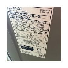 lennox 5 ton. lennox residential; 5 ton 16 seer condenser xc16s060 230 05 s