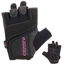 contraband pink label 5137 womens weight lifting gloves w grip lock padding pair