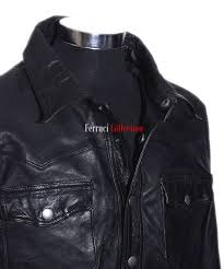 leather fitted shirt jacket zoom prev