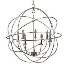 shooting star 7 light nickel plated mini chandelier