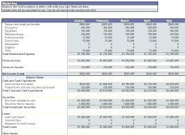 Financial Statement Worksheet Template Hafer Co