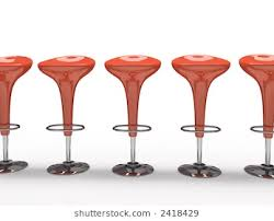 red bar stools. Red Bar Stool. Stylish Cafeteria Chair Isolated On Black Background Stools