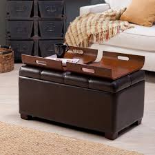 Living Room Ottoman With Storage Living Room Living Room Ottoman Storage With Rectangle Brown