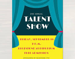 talent show flyer template free membership and parent involvement kit for pta pto with