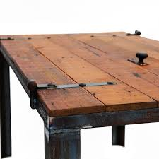 hand made old barn door desk table reclaimed materials by bohemian workbench custommade com