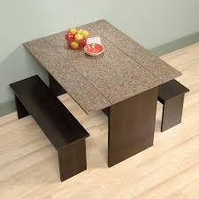 Sauder Kitchen Furniture Sauder Beginnings Trestle Table With Benches Cinnamon Cherry