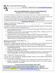 Collection Representative Sample Resume Awesome Collection