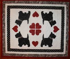 464 best A SCOTTIE QUILT/TEMPLATES images on Pinterest | Baby crib ... & Scottie Dogs Quilted Applique Table Topper Adamdwight.com