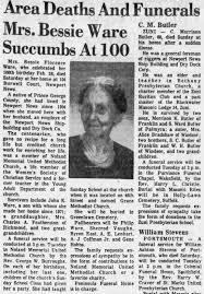 Bessie F Ware Obituary - Newspapers.com