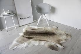 details about genuine super soft extra large scandinavian reindeer skin rug hide re 378 us