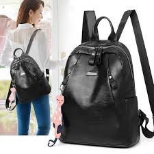 women zipper faux leather backpack large capacity student college school bag drawstring backpack black backpack from feetlove 34 12 dhgate com