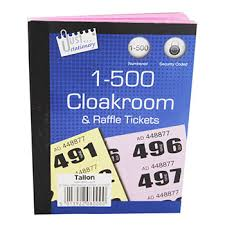 images of raffle tickets cloakroom and raffle tickets assorted office stationery supplies