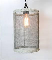 Image Is Loading Mesh-Wire-Barrel-Pendant-Light-Fixture-Galvanized-Round-  I