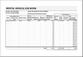 Vehicle Log Spreadsheet Car Rental Record Sheet For Excel 88336809065 Car Rental