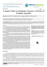 Pdf A Spatial Model Of Qualitative Exposure Jenvir Health