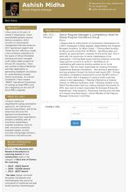 Senior Program Manager Resume Samples - Visualcv Resume Samples Database
