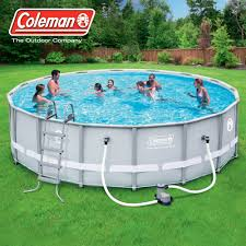 above ground pool supplies. Contemporary Supplies Walmart Pool Supplies Coleman 16 In X 48 Power Steel Frame Above Ground  Swimming Set To P
