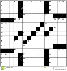 blank crossword puzzle grids printable large newspaper crossword puzzle grid numbers stock illustration
