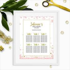 bridal shower seating chart design