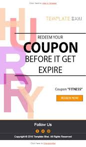 Coupon Template Interesting Vista Coupon Email Template Newsletter For Deals And Offers