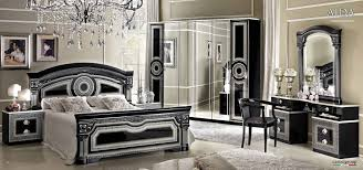 black and silver bedroom furniture. aida black wsilver camelgroup italy bedroom furniture and silver e