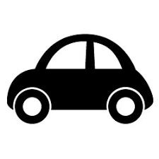 黒い自動車ビートルン2車の無料イラストc23