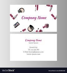 makeup artist business card vector image