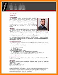 Resume Biography Examples Sample Professional New Bio Example 7