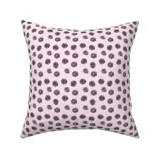 grey painted dots on blush pink