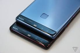 huawei p9 blue color. huawei p9 in red and blue color