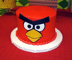 angry birds themed birthday party red bird cake