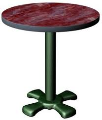 Table de bistrot ronde - 3D Model - ShareCG