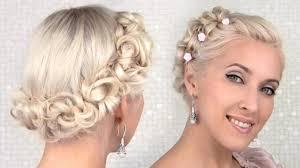 Cute Easy Medium Hairstyles Easy Prom Wedding Updo Hairstyle For Medium Long Hair Tutorial