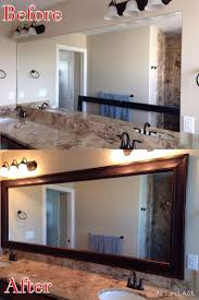 Adhesive Bathroom Mirror The 17 Best Images About Frames For Existing Mirrors On Pinterest